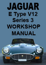 Jaguar E-Type Series 3 V 12 Workshop Repair Manual
