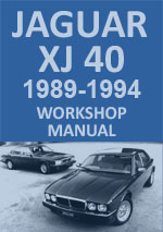 Jaguar XJ40, 1989-1994 Workshop Repair Manual