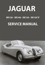 Jaguar XK120, XK140 + XK150 Workshop Repair Manual